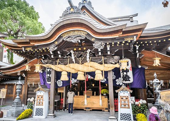 博多の総鎮守 櫛田神社のすぐ近く